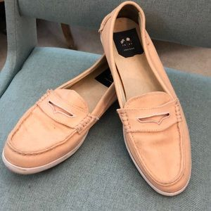 Cole Haan loafers pale pink